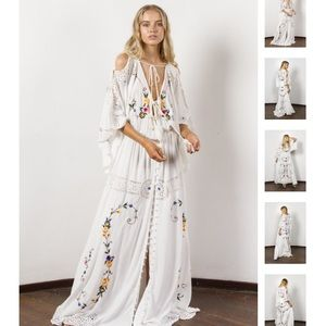 Fillyboo little big love embroidered boho dress